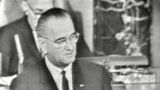 Lyndon B. Johnson Addresses a Joint Session of Congress