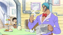 One Piece 453: (Sub) The Friends' Whereabouts! the Weatheria Report and the Cyborg Animals!