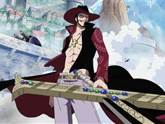 (Sub) The Great Swordsman Mihawk! Luffy Comes Under the Attack of the Black Sword! image