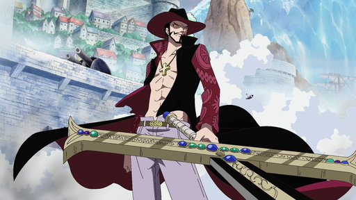 (Sub) The Great Swordsman Mihawk! Luffy Comes Under the Attack of the Black Sword!