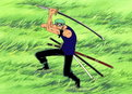 One Piece: (Sub) Fierce Midair Battle! Pirate Zoro Vs.Warrior Braham!