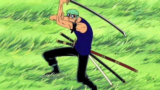 Fierce Midair Battle! Pirate Zoro Vs.Warrior Braham!