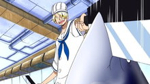 One Piece 197: (Sub) Sanji the Cook! Proving His Merit at the Marine Dining Hall!