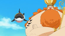 One Piece 531: (Sub) The Ryugu Palace! Taken by the Shark That They Saved!