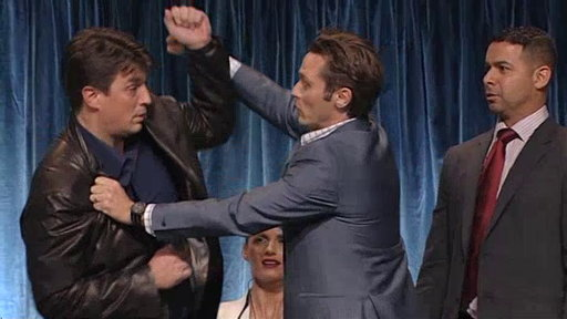 Fillion, Dever, and Huertas Demonstrate a Fistfight