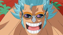 One Piece 557: Iron Pirate! Here Comes General Franky!