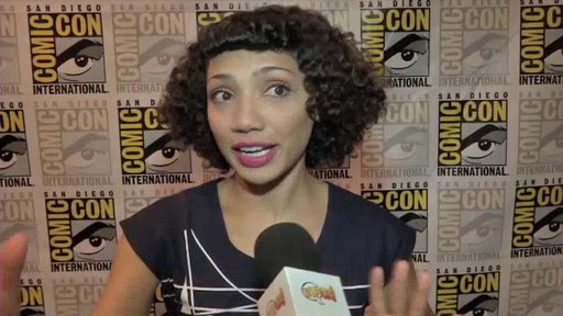 Jasika Nicole in the Press Room