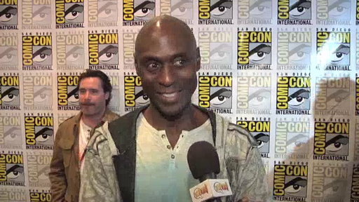 Lance Reddick in the Press Room