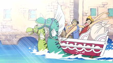 One Piece 230: (Sub) Adventure in the City On the Water! Head to the Mammoth Shipbuilding Plant!
