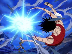 (Sub) Luffy vs. Usopp! Collision of Two Men's Pride! image