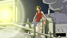 One Piece 255: (Sub) Another Sea Train? Rocketman Charges Forth!