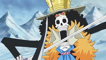 One Piece 584: (Sub) A Swordplay Showdown! Brook vs. the Mysterious Torso Samurai!