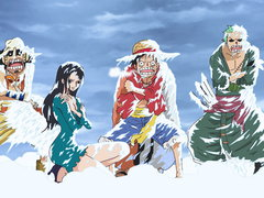 (Sub) In a Real Pinch! Luffy Sinks Into the Ice-Cold Lake! image