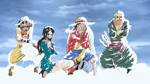 (Sub) In a Real Pinch! Luffy Sinks Into the Ice-Cold Lake!