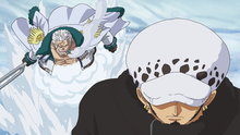 One Piece 587: (Sub) A Collision! Law vs. Vice Admiral Smoker!