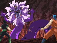 (Dub) The Deadly Cave Battle! Fire, Five-Fold Spiked Punch! Image