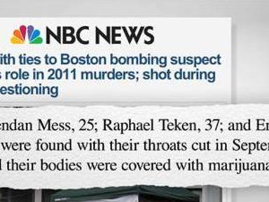 MSNBC - Strange Twist in Boston Marathon Bombing Investigation
