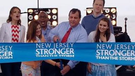 Christie Cuts 5-mile Ribbon to Reopen Jersey Shore