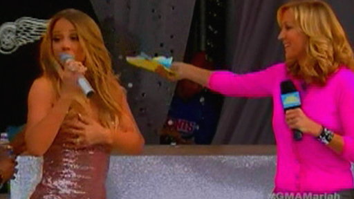 Mariah Carey Suffers Wardrobe Mishap