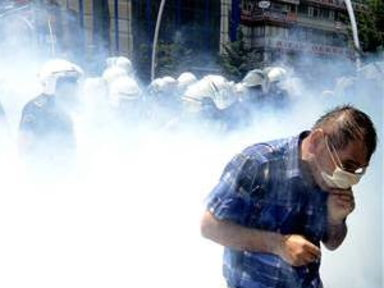 NBC News - Turkish Riot Police Unleash Tear Gas, Water Cannons
