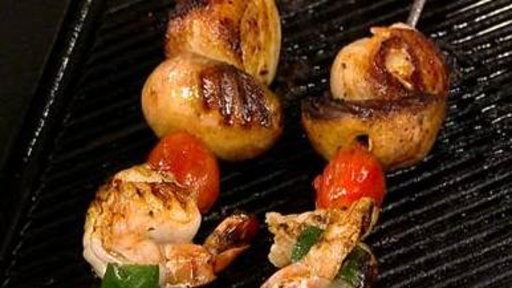Try Tasty Surf-and-turf Skewers for Dinner