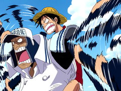 (Sub) Luffy Cuts Through! Big Showdown On the Judicial Island! image