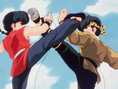 (Sub) School Is a Battlefield! Ranma vs. Ryoga image