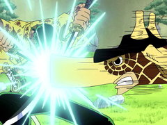 (Sub) Fierce Sword Attacks! Zoro vs. Kaku, Powerful Sword Fighting Showdown! image
