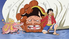 One Piece 617: Caesar's Defeat! The Powerful Grizzly Magnum!