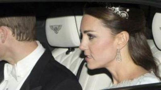 Duchess Kate Wears Tiara, First Time Since Wedding