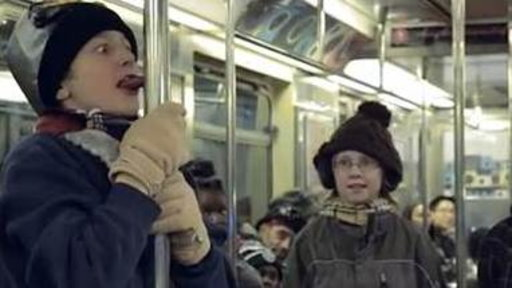 'A Christmas Story' Tongue Scene Recreated On Subway