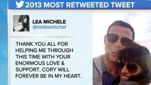 Lea Michele Tweet Tops Most Shared of the Year
