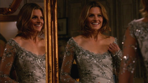 Beckett Models a Wedding Dress