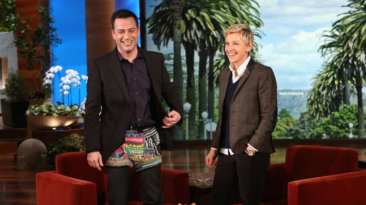 Ellen's Rainbow Loom Gift for Jimmy Kimmel