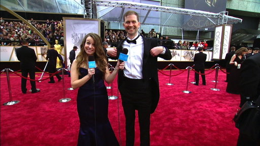 Jeannie and Andy On the Oscar Red Carpet