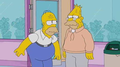 Grampa Brings Homer to His Level