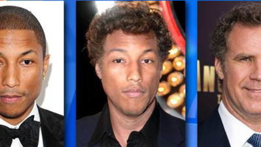 Hunky? Will Ferrell and Pharrell Williams Face Swap