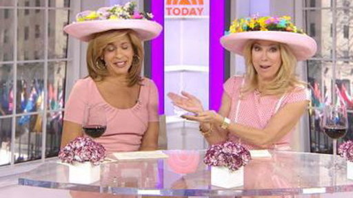 KLG, Hoda Show Off Their Peeps-inspired Bonnets