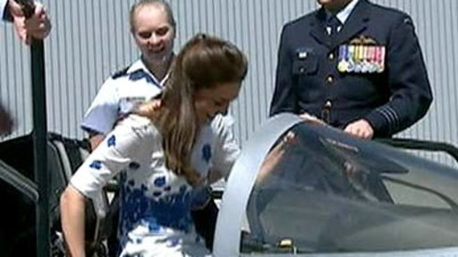 Duchess Kate Climbs Into Fighter Jet Wearing Heels