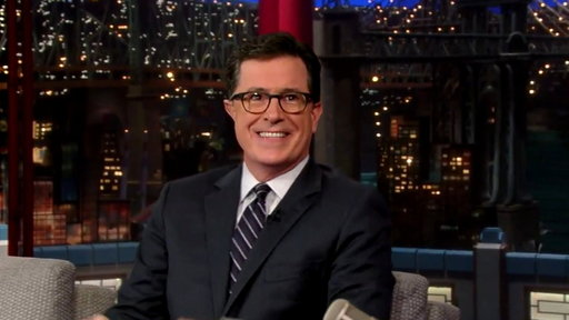 Colbert Dishes With Letterman