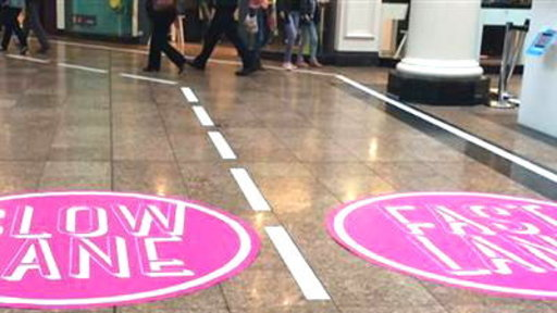 10 Year-Old Girl Inspires Mall's Fast-Walking Lane