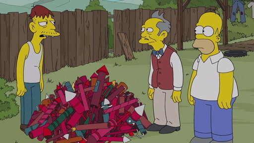 Homer Tries to Buy Fireworks from Cletus