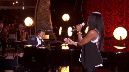 Idol Finale: John Legend & Malaya Watson