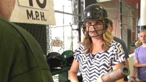Natalie and Jenna Face Off in Cooperstown's Batting Cages