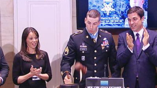 Medal of Honor Winner Breaks Wall Street Gavel