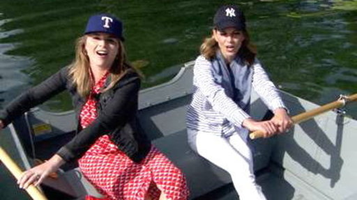 Natalie, Jenna Go for a Row in Cooperstown
