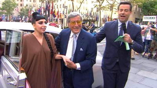 Lady Gaga, Tony Bennett Arrive On Plaza in Style