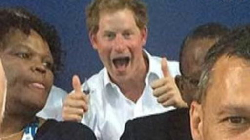 Prince Harry Boxes at Commonwealth Games