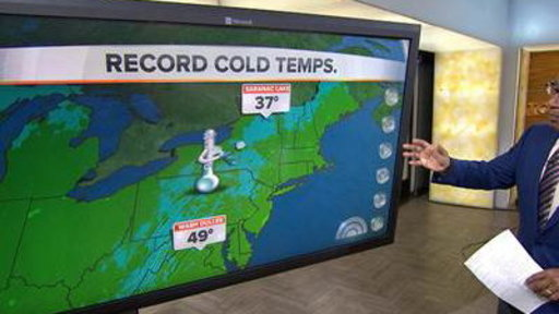 Where's Summer? Record Temperatures Cool Eastern US