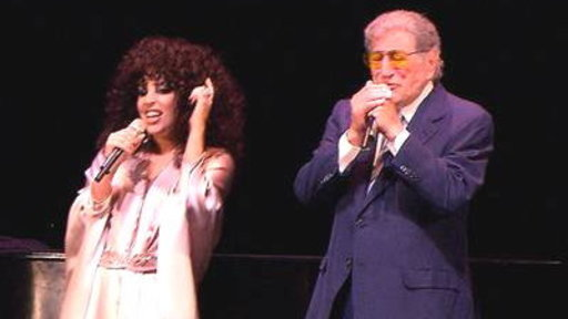 Lady Gaga and Tony Bennett Visit NY High School